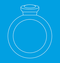 Ring icon outline style vector