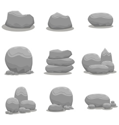 Rock stone set element art vector