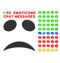 sad emotion smile icon with bonus smile clipart vector image vector image