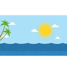 Sea beautiful landscape cartoon vector