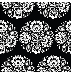 Seamless traditional floral Polish folk art patter vector image vector image