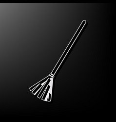 Sweeping broom sign gray 3d printed icon vector