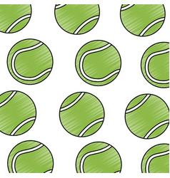 tennis ball sport seamless pattern vector image