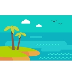 Topic island banner hot summer weekend vector