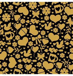 valentine day seaml gold vector image