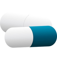 white and blue pills vector image vector image
