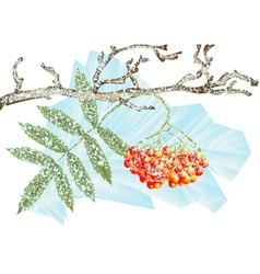 Winter frost vector