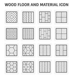 Wood floor icon vector image vector image