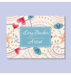 Floral business card vector