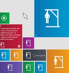 Suicide concept icon sign buttons modern interface vector