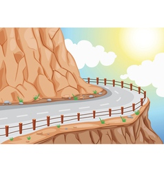 Hill side road vector