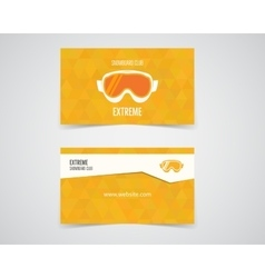 snowboard business card Orange palette Good for vector image