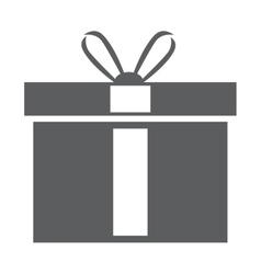 Giftbox present isolated icon vector