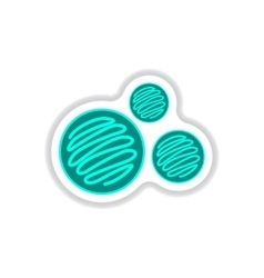 Label icon on design sticker collection biscuits vector