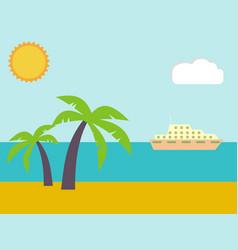 Sand on the summer beach near the tropical sea vector