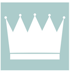 Crown the white color icon vector