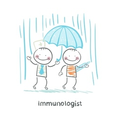 Immunologist umbrella covers the patient vector