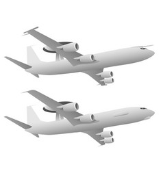 Awacs airborne warning and control system aircraft vector