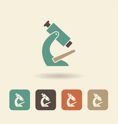 Simple flat icon microscope vector