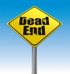 Dead end road sign vector