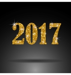 2017 New Year Gold sequins and luxury The vector image
