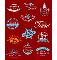 Travel banners and labels vector
