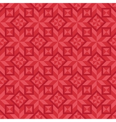 Geometrical seamless pattern in red color scheme vector