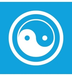 Ying yang sign icon vector