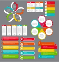 Infographic design elements set for your business vector