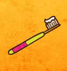 Toothbrush cartoon vector
