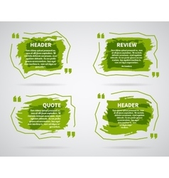 Watercolor ink splash quote blank templates vector