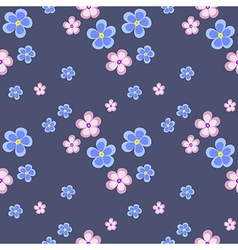 Seamless floral pattern pink flowers vector