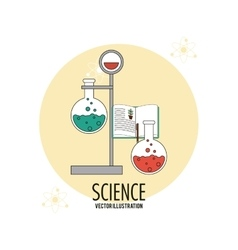Biology design science icon flat vector