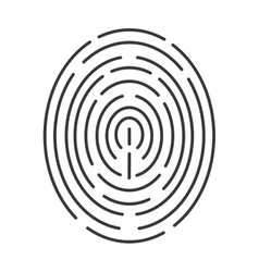 fingerprint line icon vector image