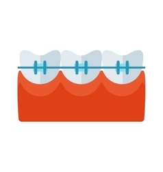 Braces tooth icon vector