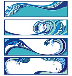 Abstract water backgrounds vector image