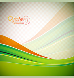 background with green waves vector image vector image