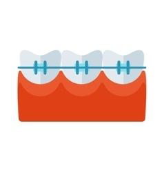 Braces tooth icon vector