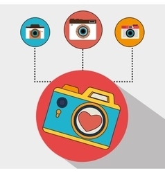 Camera and photography media vector image