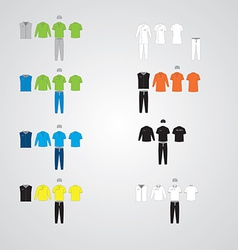 clothing uniform collection vector image
