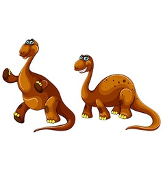 Dinosaur with long neck vector image