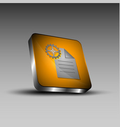 Document and gear icon vector
