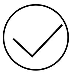 done ok right success tick valid yes icon vector image