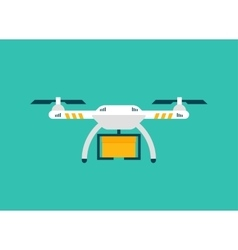 Drone sky viewer icon logo and template vector