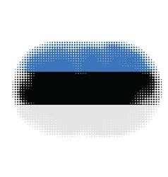 estonia flag halftone vector image vector image