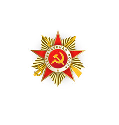 Flat patrioric war ussr star medal vector