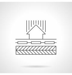 Floor heating circulation flat line icon vector