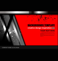 Geometric red background design vector