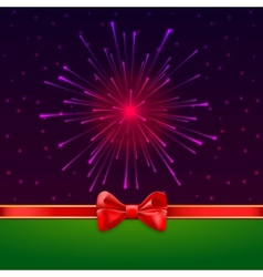 Holiday bright salute background with light rays vector