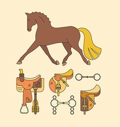 Horse elements vector
